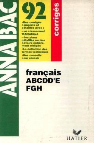 FRANCAIS CORRIGES
