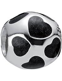 Pandora Damen-Bead Sterling-Silber 925 Herz-Kugel 790543EN22