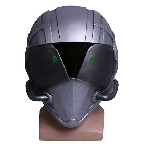 SDKHIN Spider-Man Held kehrt zurück Helm Maske Cos Bösewicht Geier Kopfbedeckung Film TV Halloween Kostüm Requisiten Silber-OneSize,Silver-OneSize