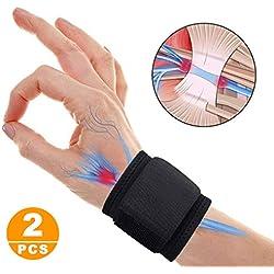 SUPRBIRD 1 Paar Handgelenkbandagen mit verstellbarem Riemen zur Unterstützung und Stabilisierung beim Sport und Fitness, Hand-Bandage