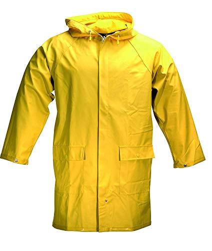 Unbekannt Herren Outdoor Regenjacke Regenmantel Jacke Wasserdicht Gelb (48, Gelb)