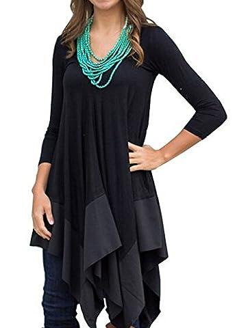 Womens Asymmetrical Casual Feminine Long Sleeve Tunic