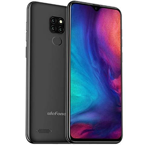 4g cellulari offerte (2019), ulefone note 7p, dual sim smartphone - schermo waterdrop 6.1 '', telefono android 9.0, mtk6761 2.0 ghz da 3 gb ram + 32 gb rom, impronta digitale otg, gps fm, nero