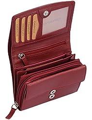 Porte-monnaie pour femme OTARIO, cuir véritable, 13x10,5cm