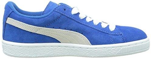 Puma 355110, Baskets Basses Garçon Bleu (Snorkel Blue-white 02)