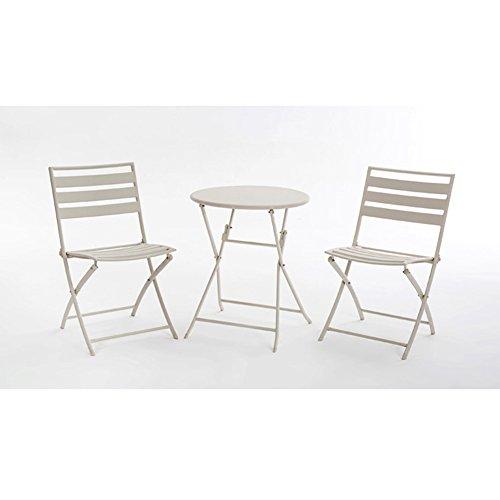 LJF Tables and Chairs Balkon Kleine Tee Tisch Kombination, Moderne Kreative Gartenmöbel im Freien Die Tiantai Coffee Shop Milch Tee Shop Klapptisch und Stuhl 3 - Stück Ärmel | Vier Farben (Im Stück Stuhl 3 Freien)