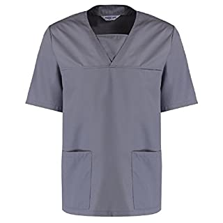 Alsico Premium Scrub Top (2XL, Hospital Grey)