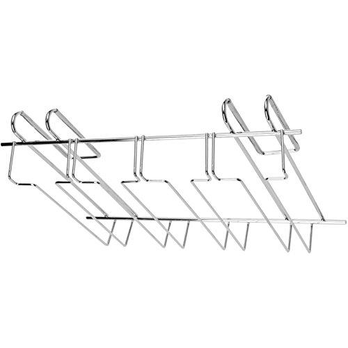 Porte-verres à pied suspendu en acier inoxydable pour dessous d'étagère