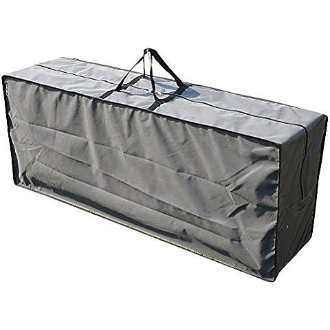 SORARA - Bolsa para Cojines del Set de Lounge   125 x 32 x 50 cm (L x A x A)   Gris   Impermeable   Poliéster & con capa de Poliuretano   Para exterior Muebles de Jardín, Terraza, Patio   Alta