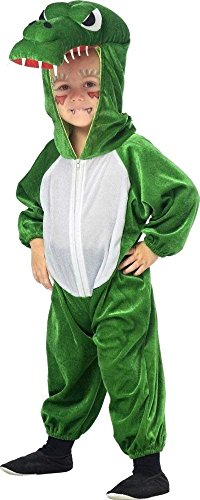 KARNEVALS-GIGANT Drachenkostüm Drache Plüsch Kostüm Kinder Jungen Mädchen Plüschkostüm Unisex Größe 128 (Für Jungen Kostüme Drachen)