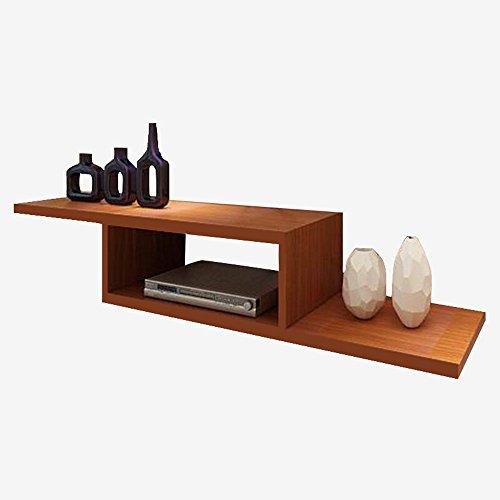 Set-top box rack/TV fond étagère murale/étagère murale couleur teck 110 * 24 * 20cm