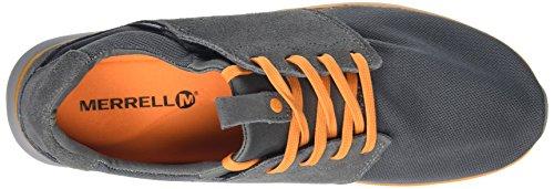 Merrell Getaway Lace, Baskets Basses Homme Gris (Grey/Orange Airmesh)
