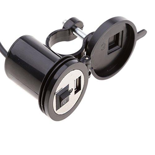 Baoblaze Porta USB Carica Batteria Cellulare Presa Alimentazione Montata Manubrio Moto