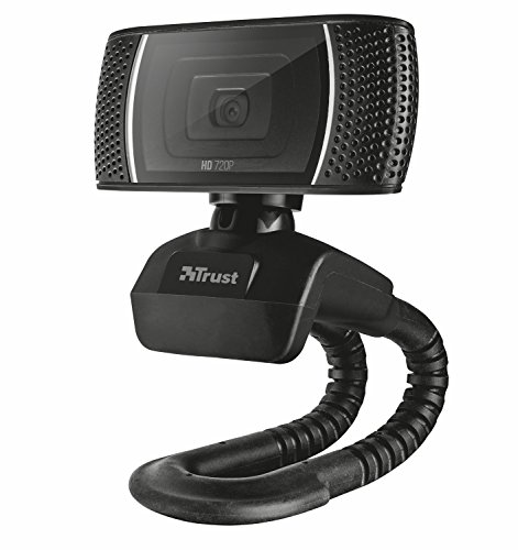 Trust Trino 720p HD Webcam (mit Mikrofon, 8 Megapixel, 720p) schwarz