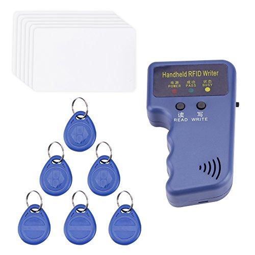 Imprimante Duplicateur Copieur de Carte d'Identification de la Carte RFID 125KHz + 6pcs Cartes d'Identification Inscriptibles + 6pcs Étiquettes d'Identification
