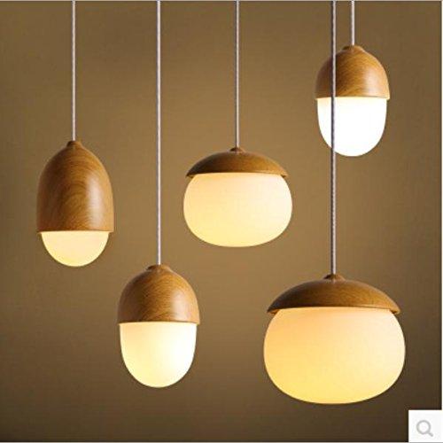 GHKLGY Nuss Anhänger, personalisierte kreative Esszimmer Tisch Lampe Glas Kronleuchter, Pilz Lampe , c -