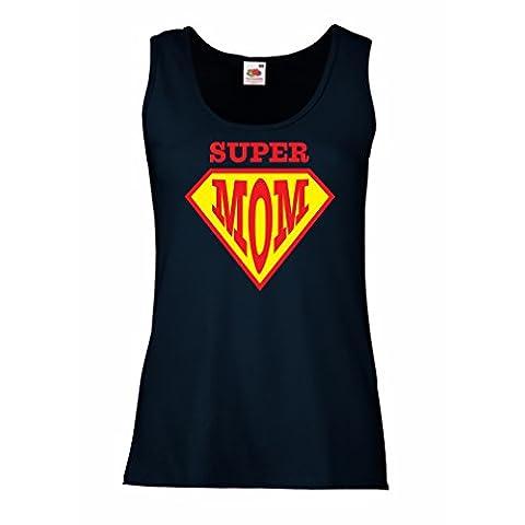 Damen Tank-Top Super MOM - für Frau Geschenke - die
