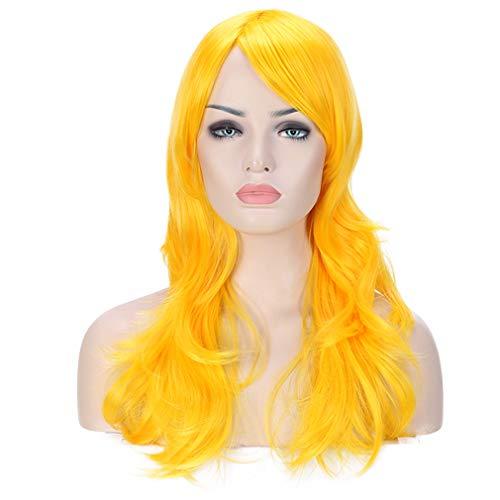 Peluca amarilla larga pelo sintetico