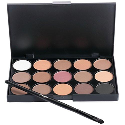 Pure Vie® Pro 1 Stück Make Up Pinselset mit 15 Farben Lidschatten Palette Makeup Kit - Ideal für Sowohl den Professionellen als auch Persönlichen Gebrauch