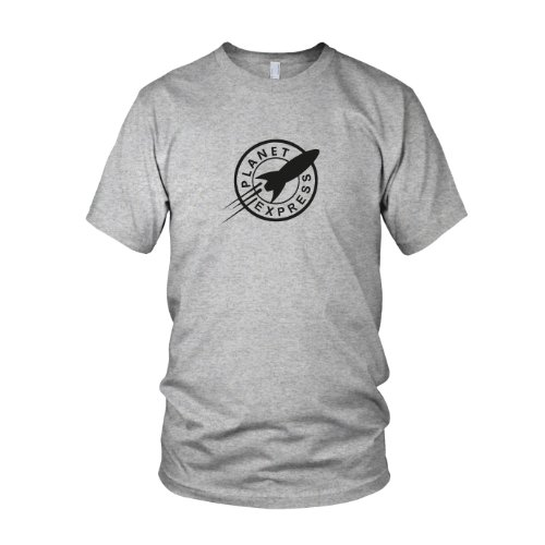 Planet Express - Herren T-Shirt, Größe: S, Farbe: grau meliert