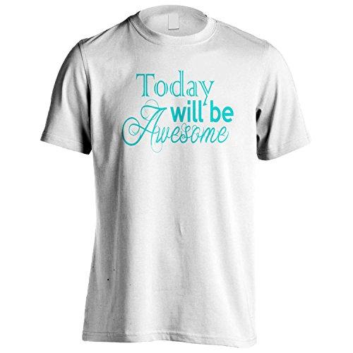 Oggi sarà fantastico divertente regalo della novità Nuova Uomo T-shirt b85m White