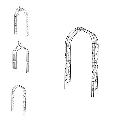 1PLUS Rosenbogen Torbogen Rankhilfe aus Metall (Tantau 260 x 130 x 39 cm)