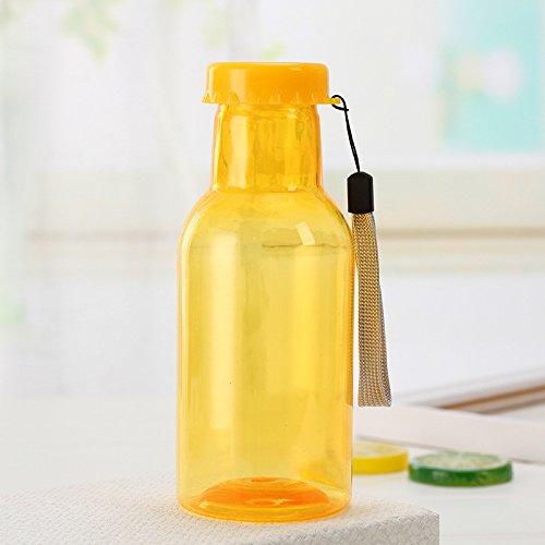 iche Soda-Flaschenqualität kann die Soda-Flasche Nicht verschließen. Wasserflasche, gelb, 350ml ()