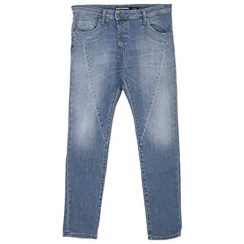 Please, P78A, Damen Jeans Hose, Stretchdenim, Midblue, M [21754]
