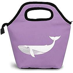 Bolsa de almuerzo Delfines frikis Tiburones gay Bolsa de almuerzo Ligero, aislado, reutilizable, grande, impermeable, bolsa de asas para almuerzo para adultos Picnic de viaje al aire libre