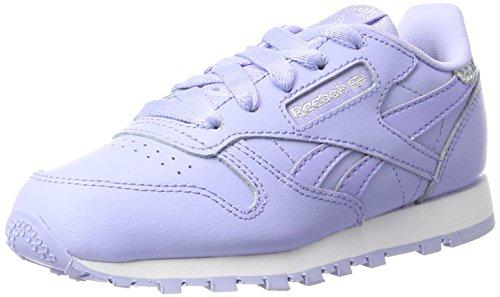 Reebok Mädchen Classic Leather Pastel Sneaker, Violett (Lilac Glow/White), 34 EU