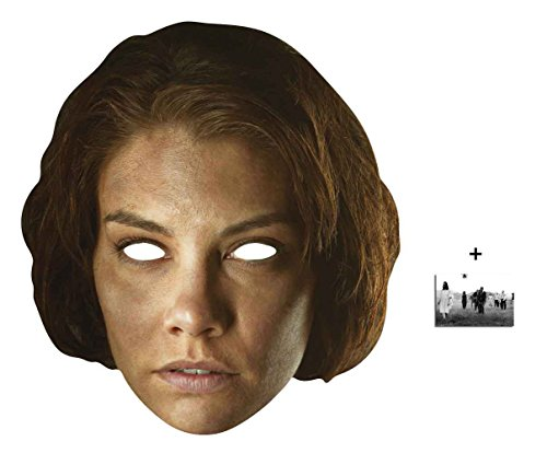 Maggie Greene The Walking Dead Single Karte Partei Gesichtsmasken (Maske) Enthält 6X4 (15X10Cm) ()