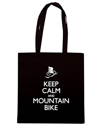 T-Shirtshock - Borsa Shopping SP0092 Keep Calm and Mountain Bike Maglietta Nero