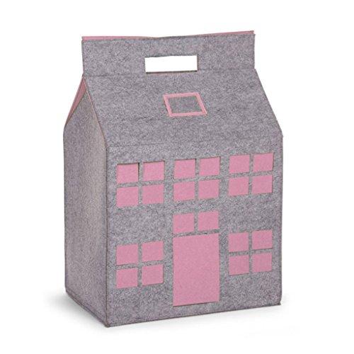 Preisvergleich Produktbild Childwood Filz Spielzeughaus 50x35x72, Farbe:Rosa