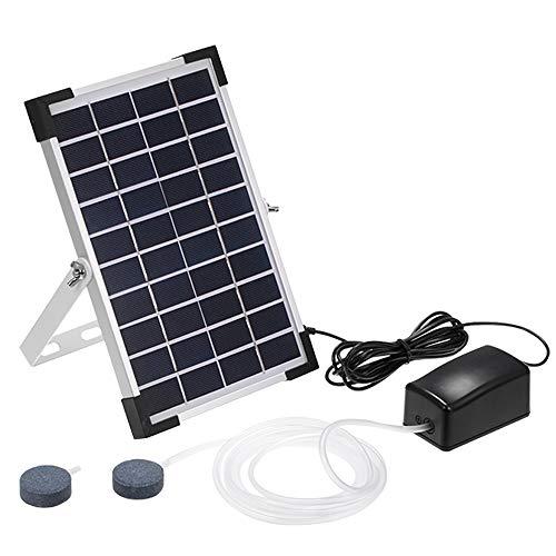 TOMSHOO Solar Teichbelüfter,Luftpumpe Sauerstoffpumpe Tag und Nacht für Garten, Teich, Aquarium (5W)