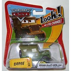 Disney Pixar CARS 1:55 scale Lenticular Eyes Sarge Car by Mattel