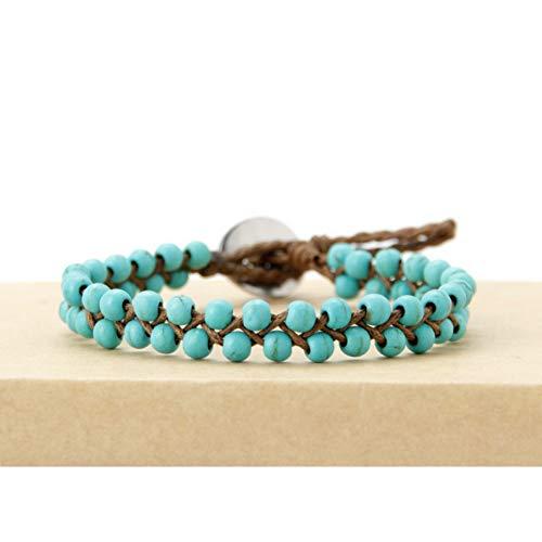 DUOJINZ Boho Armbänder Handgefertigte Steine   Wachs Cord Wrap Armband Perlen String Mädchen Armband Großhandel Usa Tribal Armband