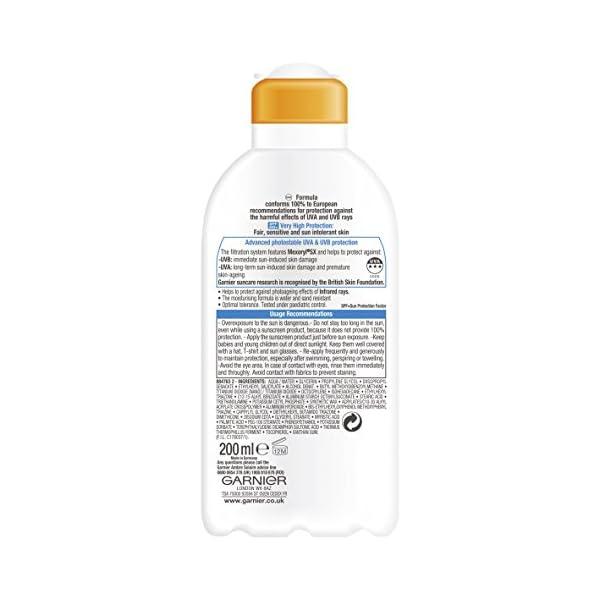 Garnier – Ambre solaire resisto kids SPF50 + 200 ml – leche de protección solar