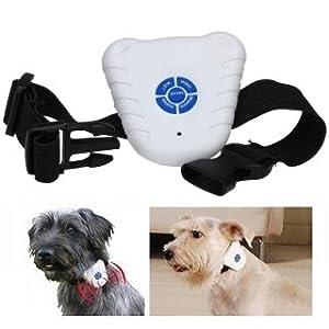 Flying Colourz Ultrasons anti NO-Barking animaux de compagnie Colliers de choc de chien aboiement Blanc