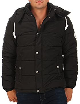 Jack & Jones Hombre Figure Puffa Jacket, Negro