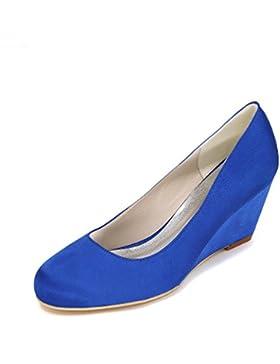 LEI&LI Chiuso Toe zeppa alta tacco raso matrimonio nuziale scarpe partito & sera scarpe più colori donne disponibili