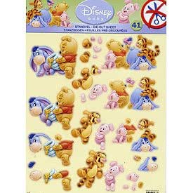 Die Cut Découpage Sheet - Baby Winnie the Pooh