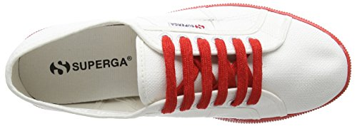 Superga 2832 Nylu, Sneakers Basses Unisexe adulte Blanc (White/Red)