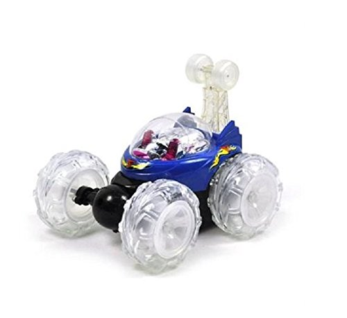 Turbo 360 Twister Rc Stunt Car with Flashing Lights rechargeable blue or red