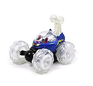 Desconocido Generic Turbo 360 Twister RC - Coche con Luces Intermitentes Recargables, Color Azul o Rojo