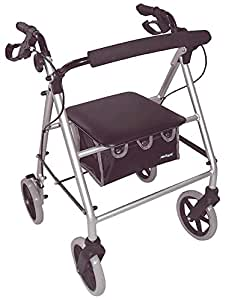 Aidapt Lightweight Rollator with Bag Silver (Eligible for VAT relief in the UK)