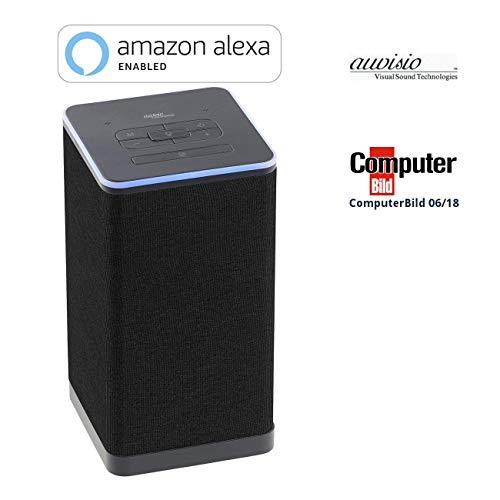 auvisio WLAN Speaker: WLAN-Multiroom-Stereo-Lautsprecher mit Amazon Alexa und Akku, 20 Watt (Multiroom Smart Speaker)