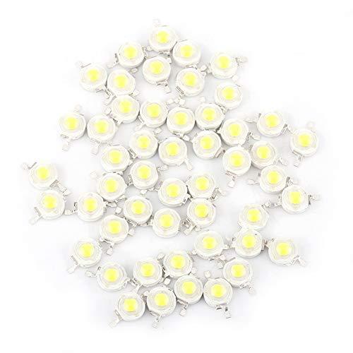 Qiterr 50pcs LED Lampen Korne, SMD 1W kühler/Warmer weißer LED Heller Korn-Birnen-Span für Flutlicht-Scheinwerfer-hohe Leistung neu(Kaltes Weiß) - Sets Twin-bettdecken