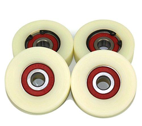 2er Pack (4x 50mm mit Nylon, hergestellt in der EU, 16mm wide-10mm bearing, 4 - Wide 16