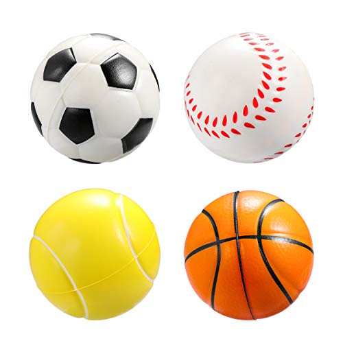 cf7d39606 TOYMYTOY Soft Foam Sponge Indoor Outdoor Football Basketball Baseball  Tennis Ball Soccer Ball - 12 Pieces