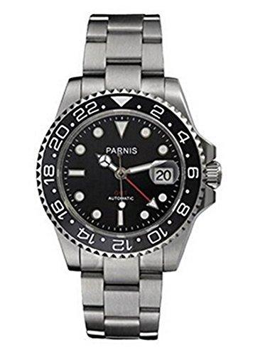 Parnis unisex P101506analogico automatico meccanico argento orologio in...